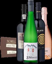 4er Probierpaket »Wein & Schokolade 2.0 - Willkommen im Himmel«
