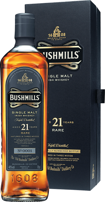 Bushmills 21 Years Old Whiskey