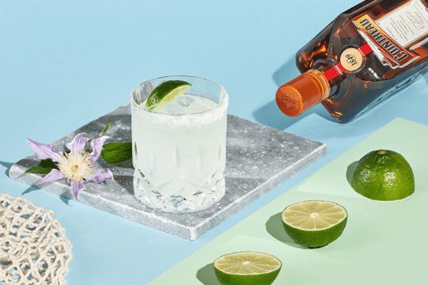 Mit Cointreau gemixter Margarita-Cocktail