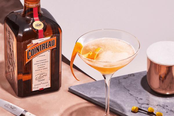 Sidecar Cocktail gemixt mit Cointreau