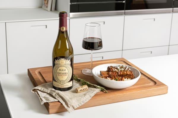 In Rotwein geschmortes Rind mit Parmesan Risotto Rezept