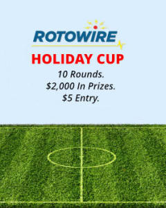 Yahoo DFS Soccer: Introducing the RotoWire Holiday Cup