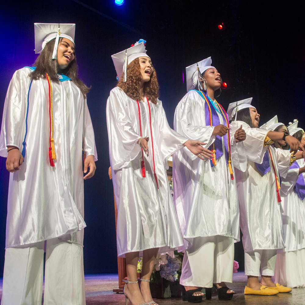 Celebrating Bronx Theatre High School Graduation }