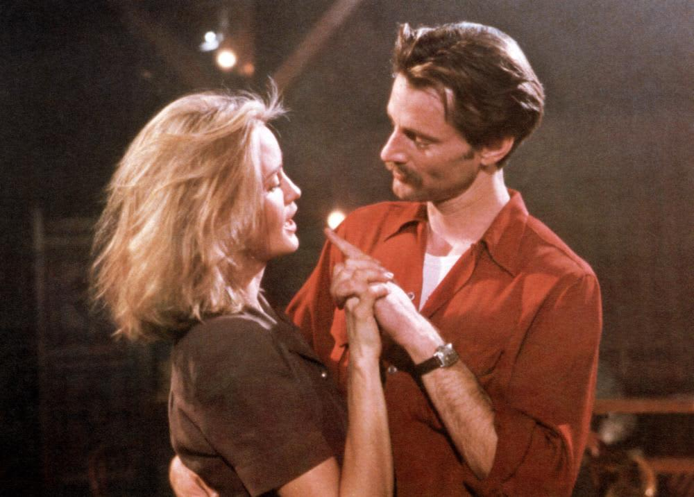 Sam Shepard and Jessica Lange on the set of Frances