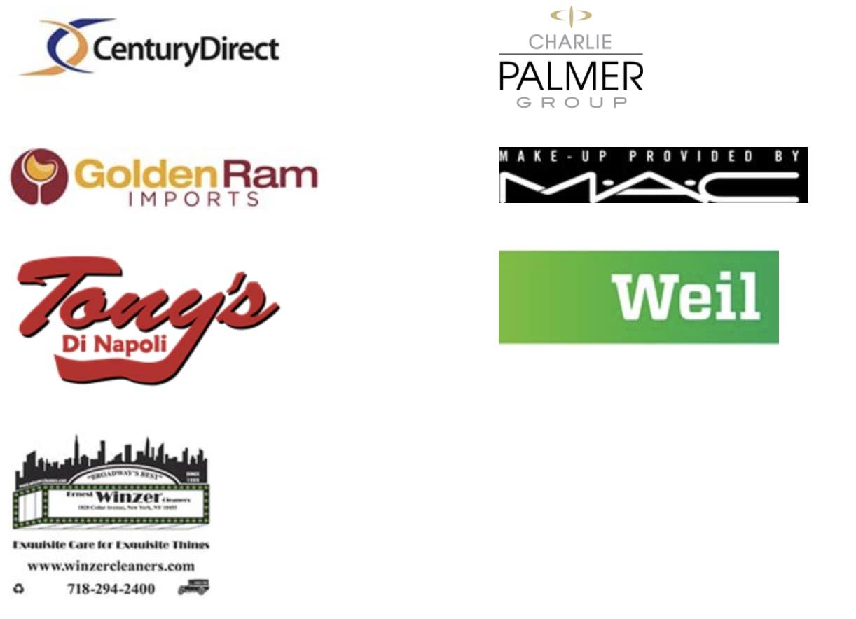 Century Direct, Charlie Palmer Group, Golden Ram Imorts, MAC, Tony's Di Napoli, Weil, Winzer