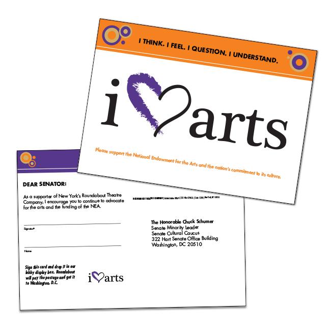 I Heart Arts Postcards