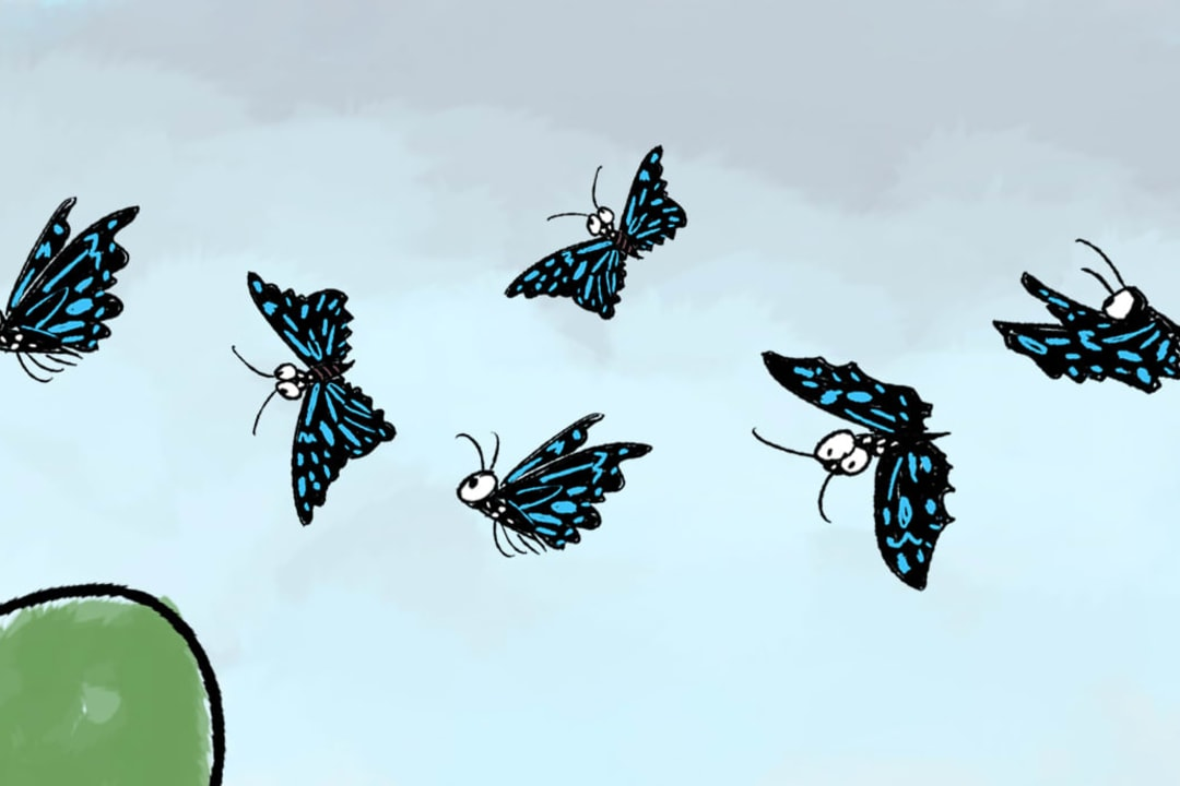Blue Tiger Migration: Butterflies on the Move