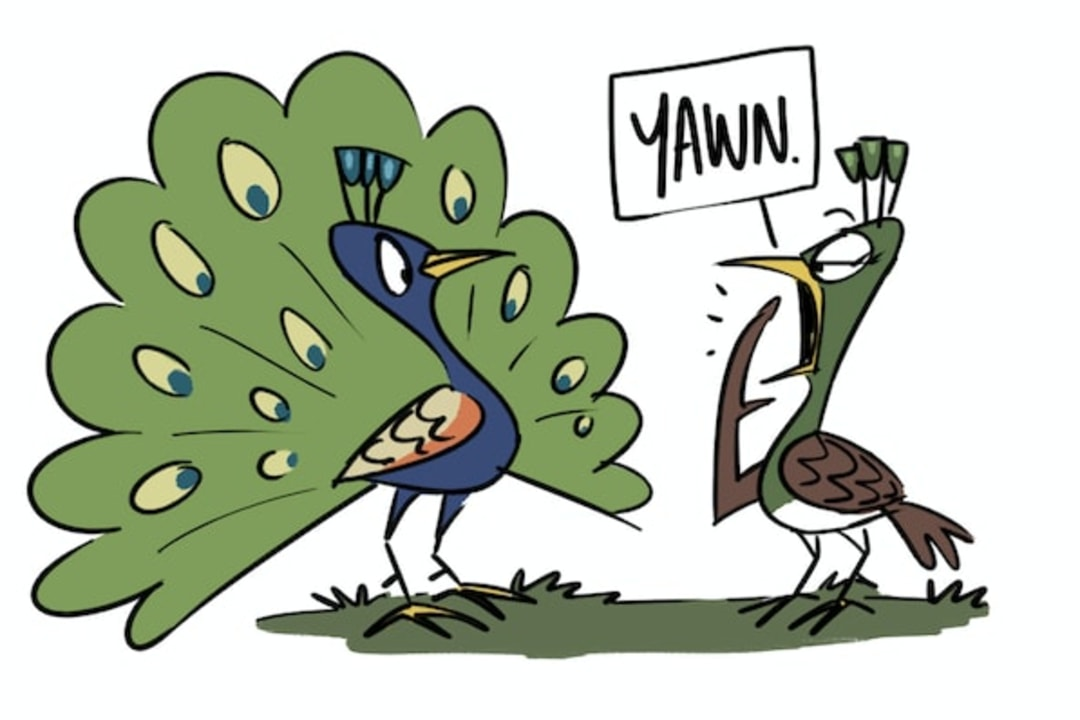 How Peacock Won a Peahen Over With the Perfect Pun