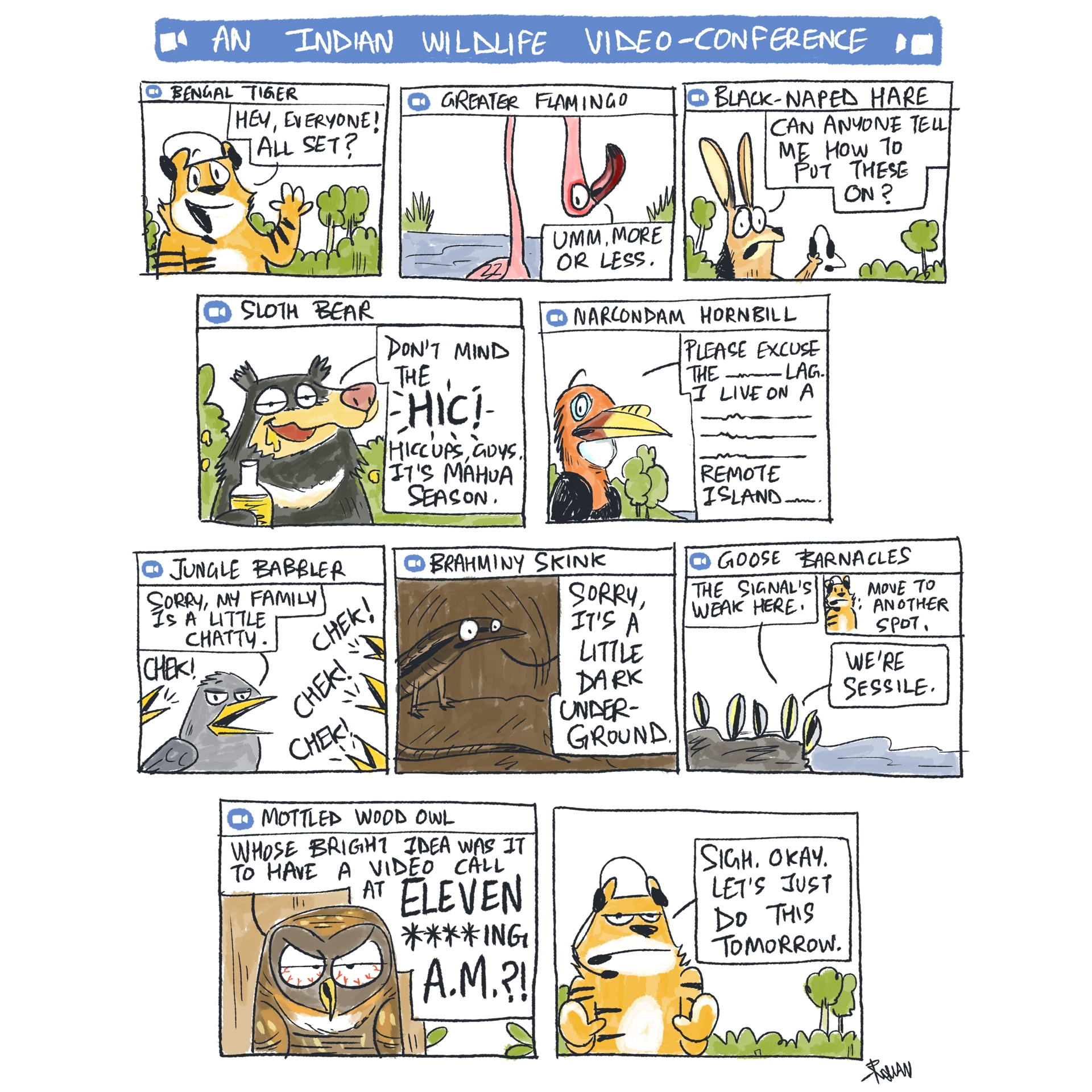 Green Humour combines relatable laughs with interesting facts to give us fun insights into the animal kingdom. Photo: First published in Sunday Mid-Day