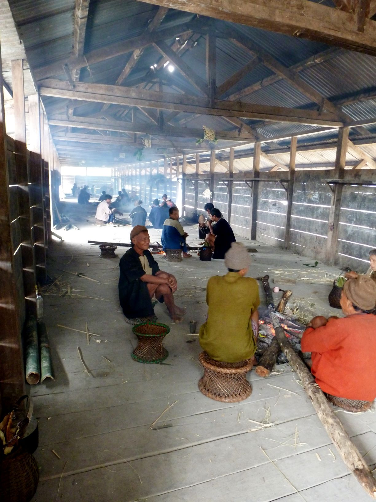 The moshup or the community hall is where villagers assemble during festivals and proceedings of the kebang, a traditional village council. Women are not allowed for some occasions, which are exclusive for men/elders.