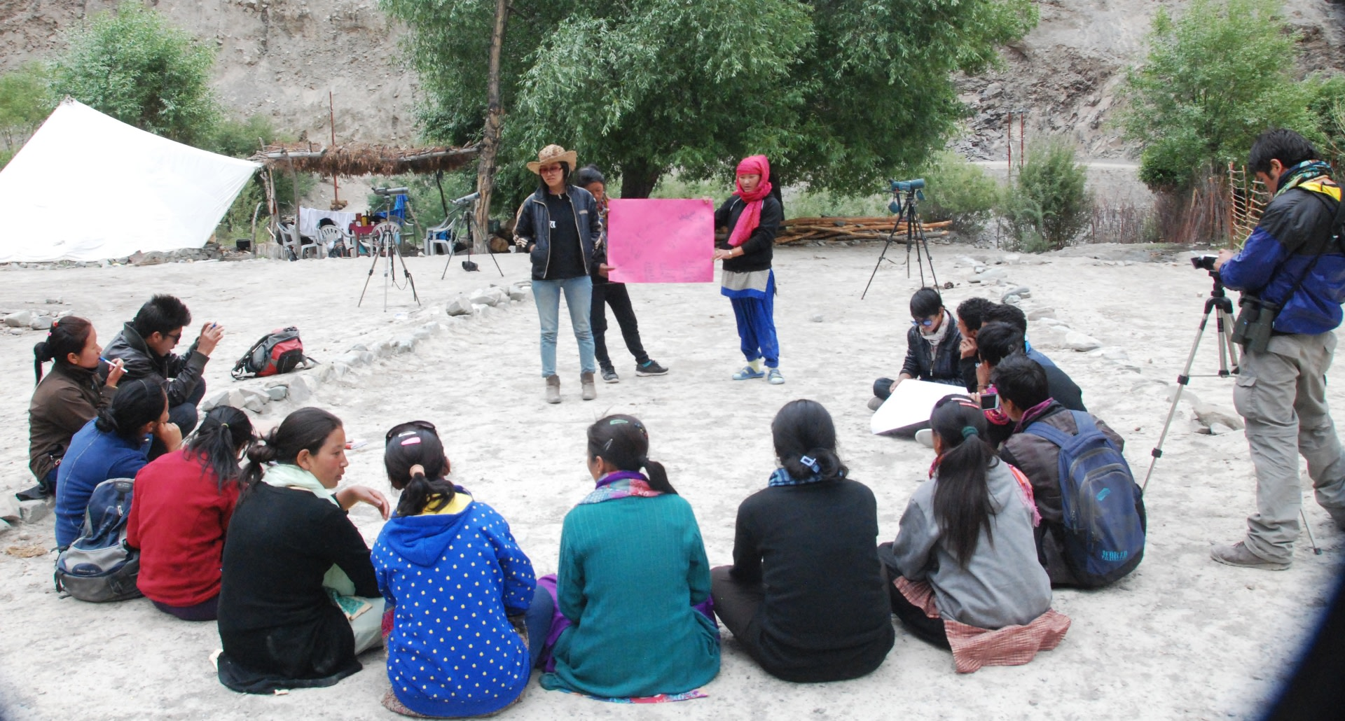 The Snow Leopard Conservancy India Trust staff conduct nature guide trainings for locals in Ladakh's Sham Valley.