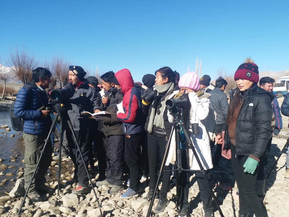 The Wildlife Conservation and Birds Club of Ladakh is a community-based non-profit organisation that organises birdwatching workshops to train locals to become birding guides. Photo: Lobzang Visuddha