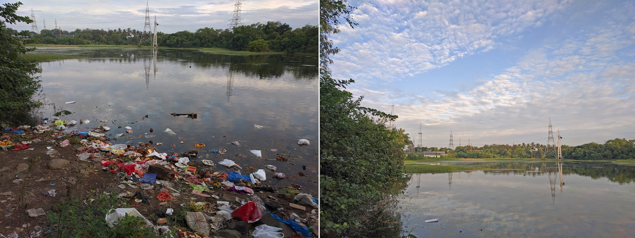 Irresponsible disposal of trash influences the composition of the lake, and the steady aggregation of organic and inorganic pollutants could result in oxygen depletion, thus harming the lake's biodiversity.