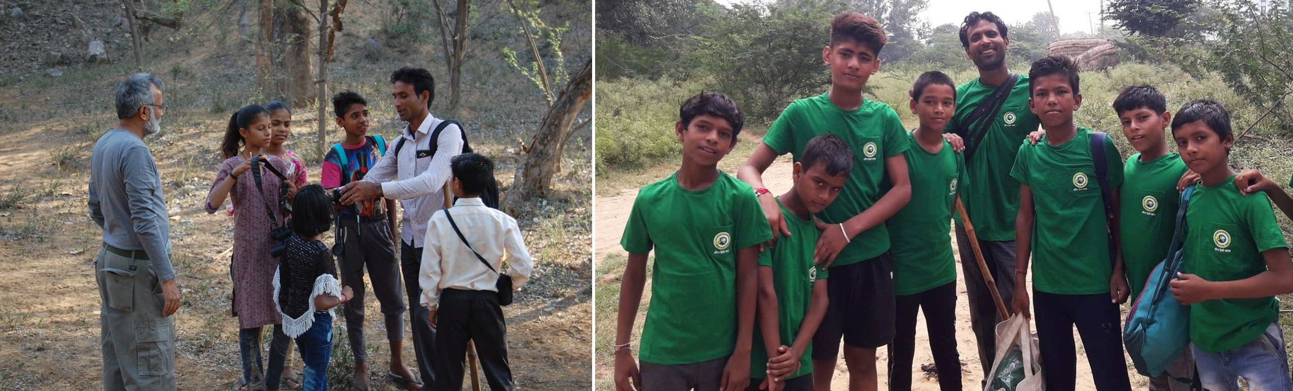 Members of the Mangar Eco Club spend their weekends in their beloved forest, observing its wealth of biodiversity.  Photo (above left): Anirudh Nair, Photos courtesy (top and above right): Sunil Harsana  Environmental activist Sunil Harsana has been working to preserve the Mangar Bani forest for the past 10 years. Cover Photo Courtesy: Sunil Harsana