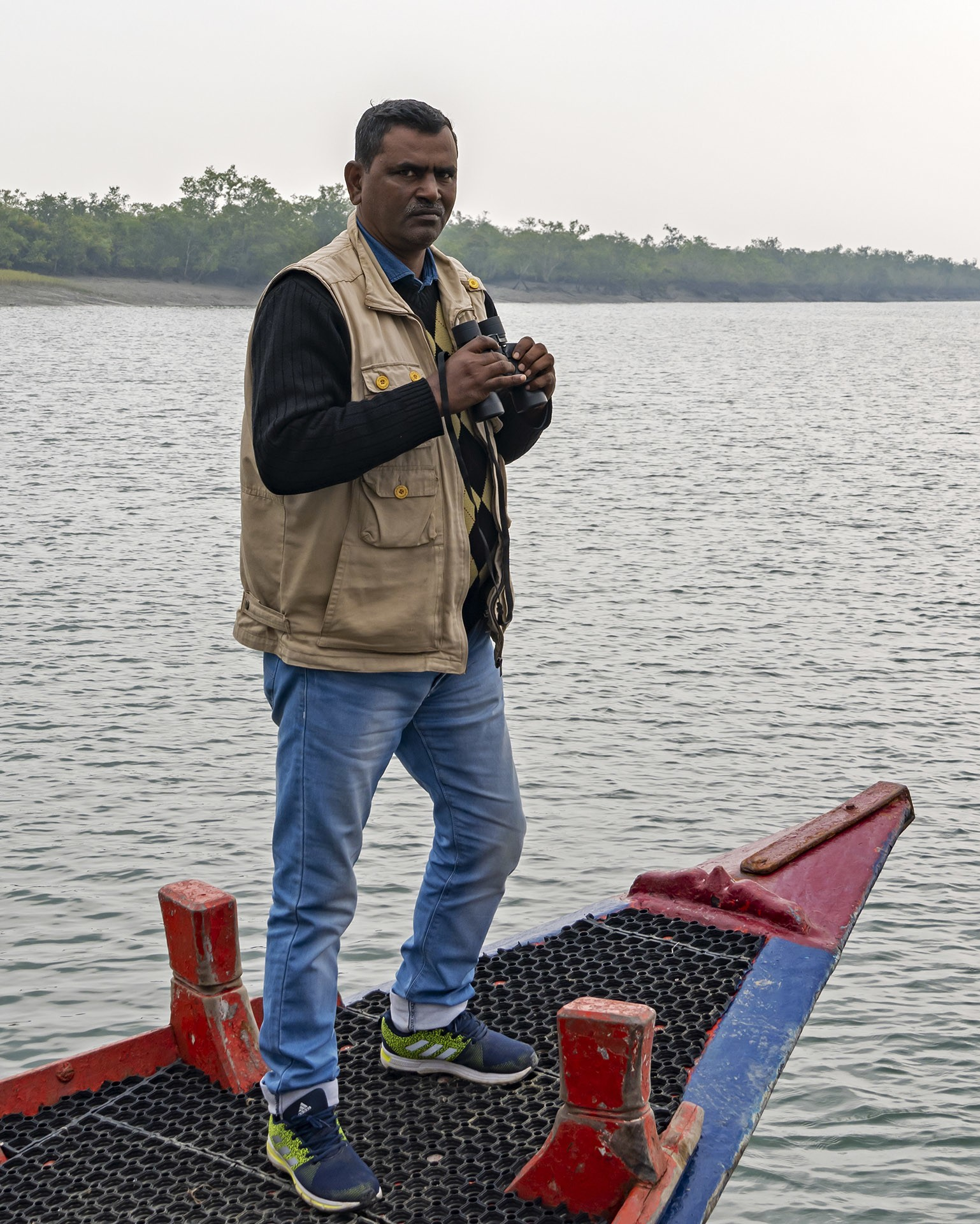Anil Mistry has lived on several different islands in the Sundarbans through his life,and knows itsforest and inhabitants, human and non-human, intimately. Photos: Dhritiman Mukherjee