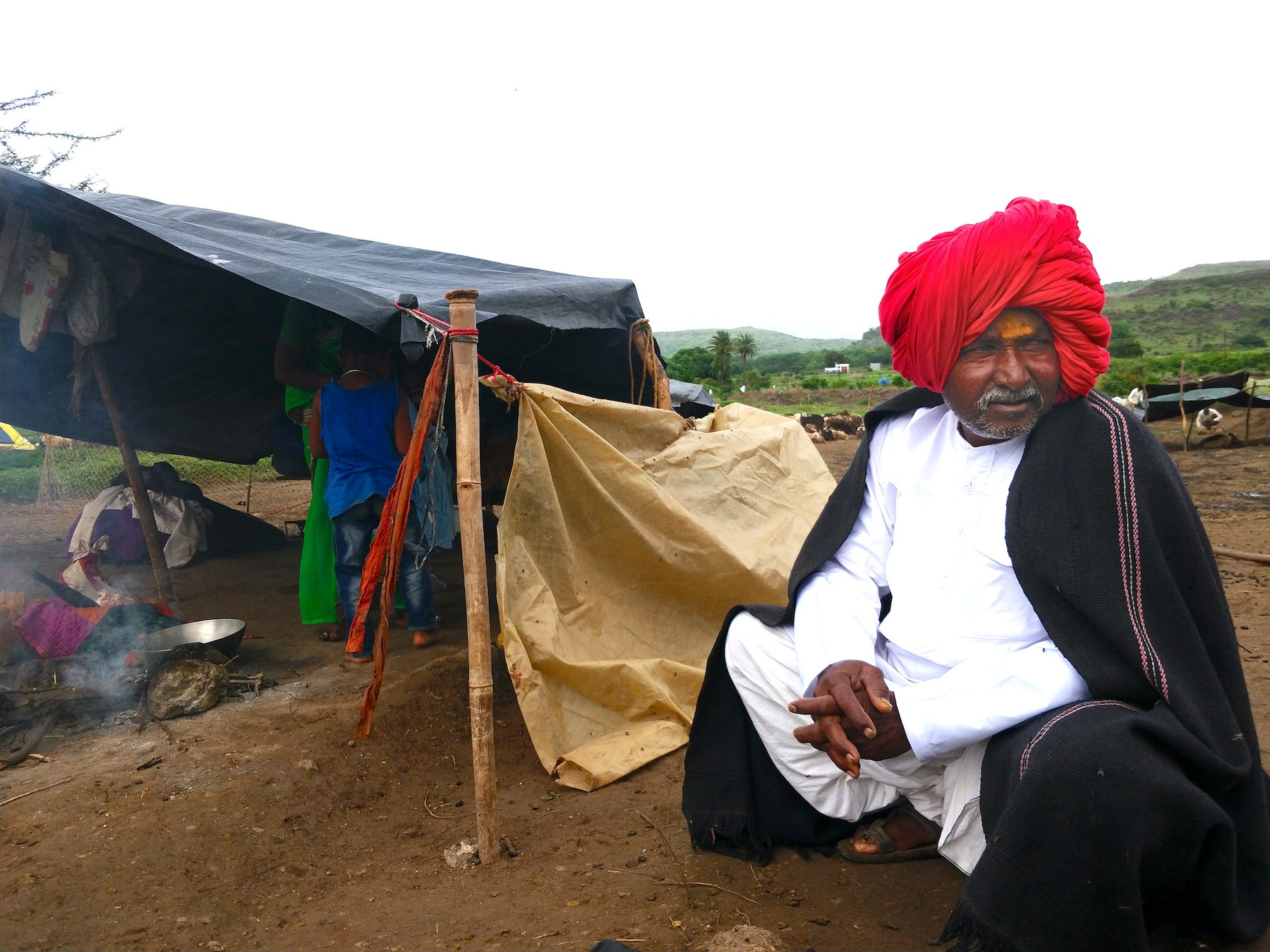 A typical Dhangar man in a turban. This is a community whose lives beautifully intertwine with nature. Photo and Video: Mihir Godbole