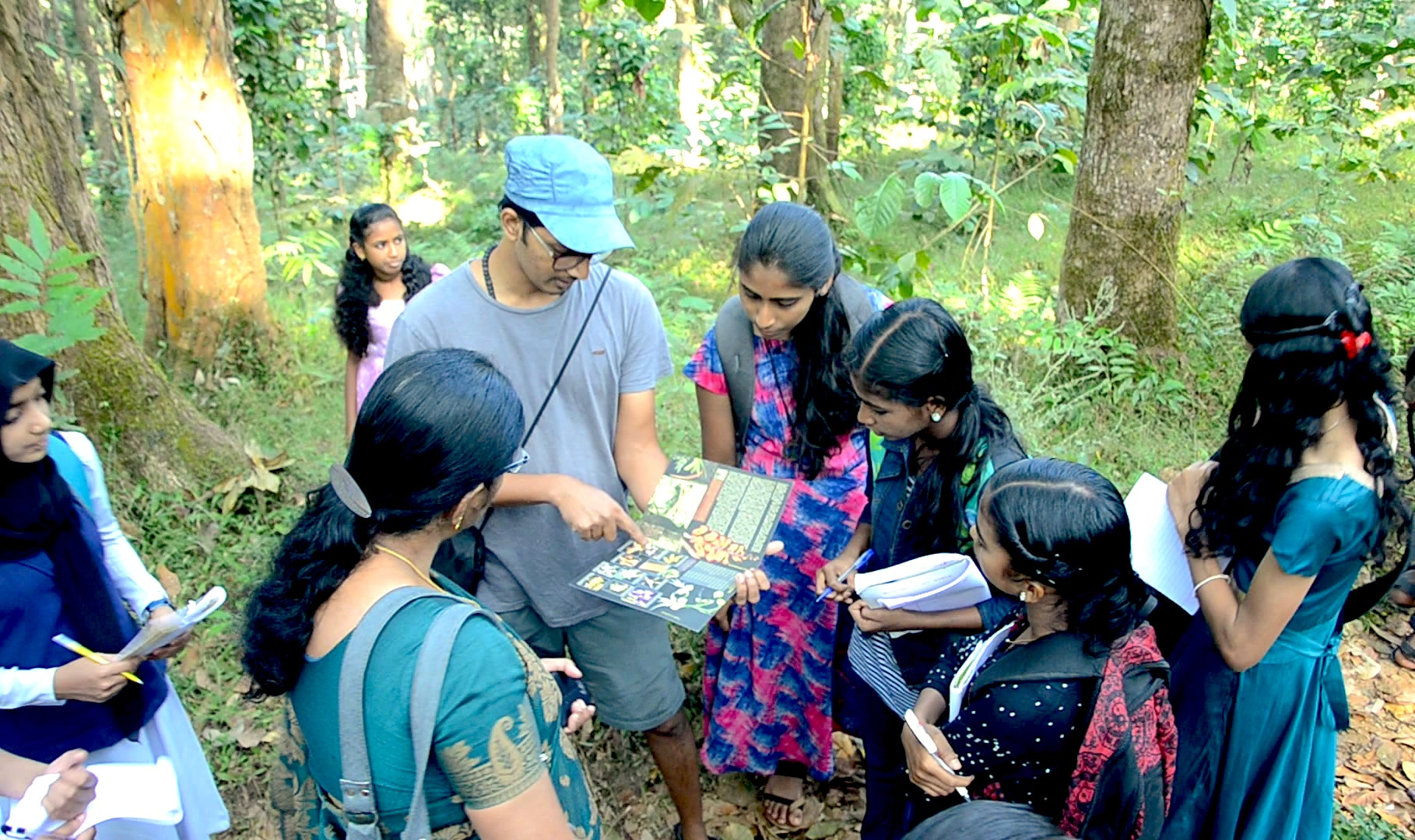 Since they live close to these forests, the school students of Vythiri were quick to pick up information about the orchids in their environment. Photo: Jis Sebastian