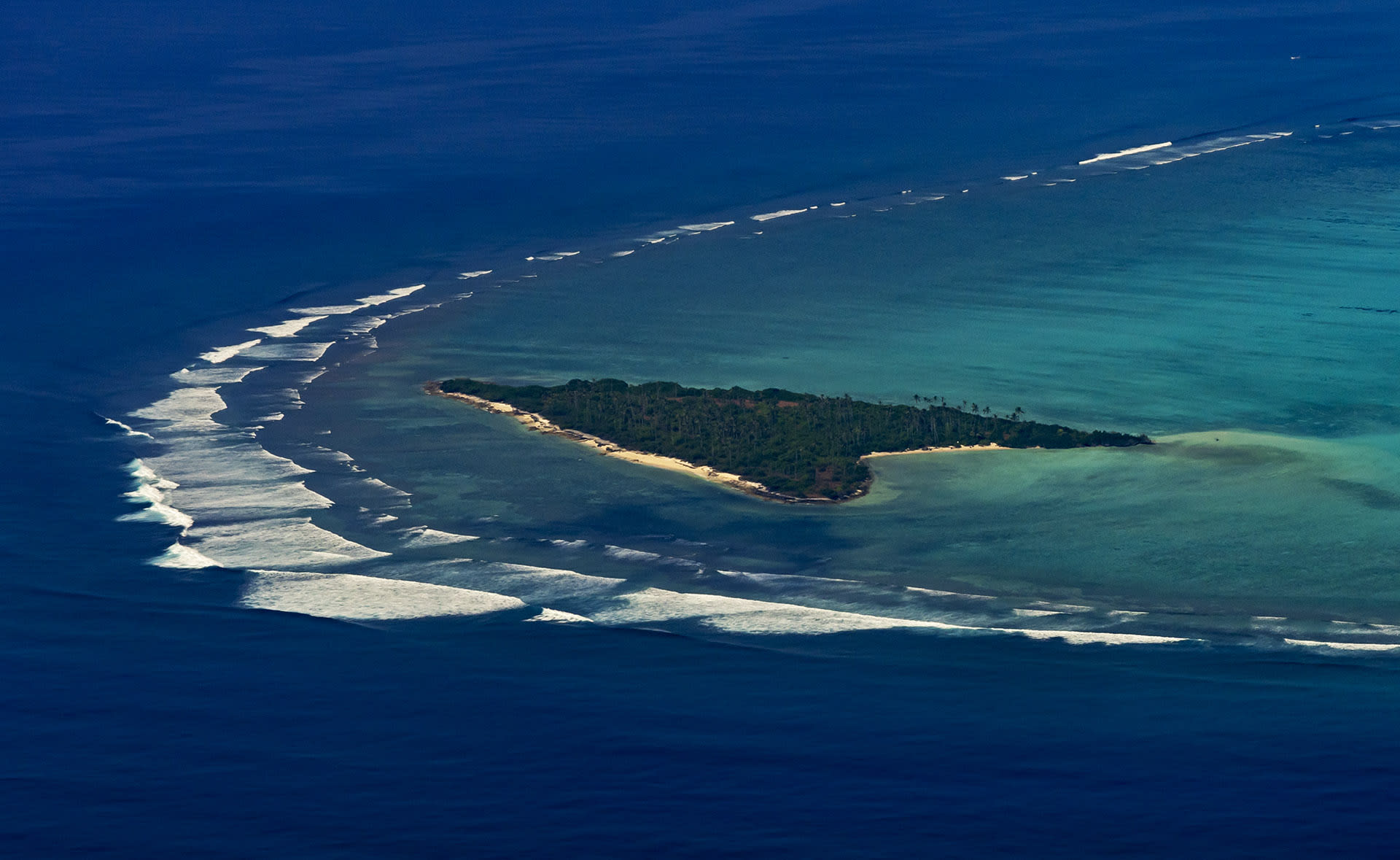 What we see today is the final stage in the geological evolution of a coral reef. The Lakshadweep archipelago faces the brunt of the southwest monsoon; thus, most islands occur on the eastern sides of their lagoons. Kalpitti island in the Agatti lagoon is the first breathtaking site you see when landing into the Agatti aerodrome.