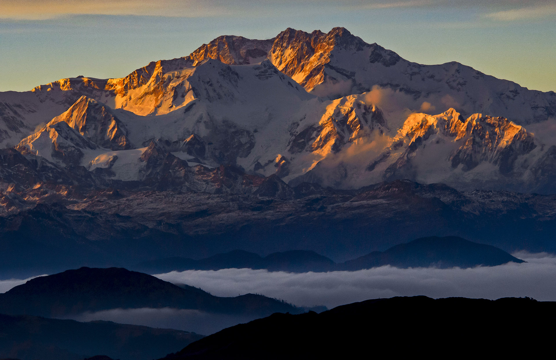 Located in the eastern Himalayas, Kanchenjunga is the third largest mountain in the world. Photo: Dhritiman Mukherjee