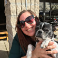A lady and her loves dog boarding & pet sitting
