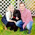 Jordan, Sarah, and Finn in UKV dog boarding & pet sitting