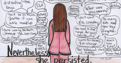 San Jose Artist Persists With Viral Protest Meme #ShePersisted