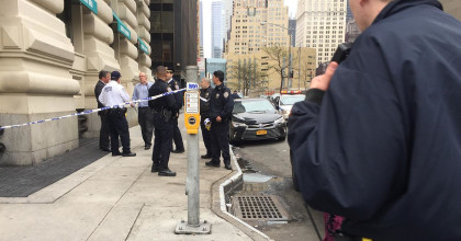 32-year-old woman, possibly innocent bystander, shot near Battery Park