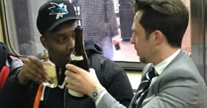 Cheers! Strangers share bottle of wine found on subway