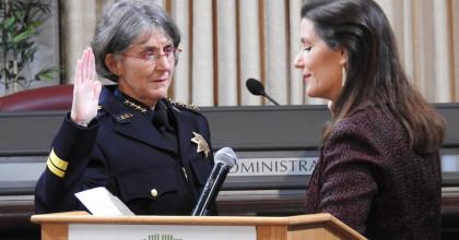 New Oakland Police Chief Anne Kirkpatrick Sworn In Today