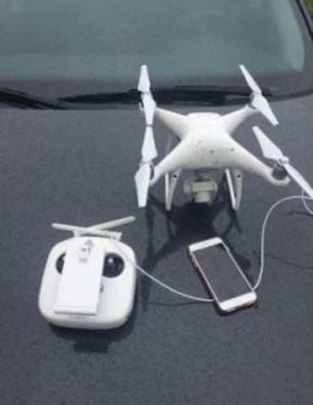 Drone caught flying in restricted airspace