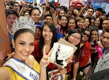 She's back: Miss Universe Thailand returns to the Philippines