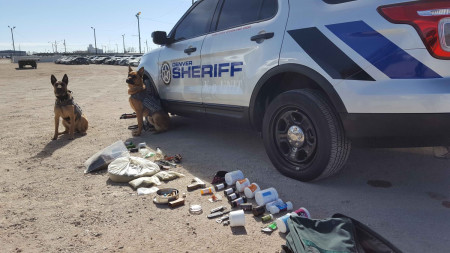 Drug dogs find meth, marijuana and gun at Denver Vehicle Impound Facility