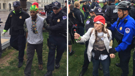 Four Arrested at Pot 'Smoke-in' on U.S. Capitol Grounds