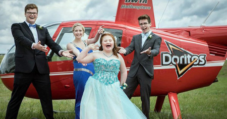 Doritos sends teens to prom in style after hearing about 'cheesy' promposal