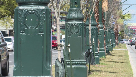 Lamp posts along new Rampart streetcar line commemorate 'Confederate Domination'