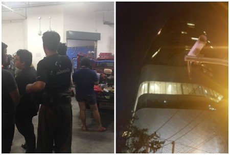 Central Embassy reopens after last night's fire