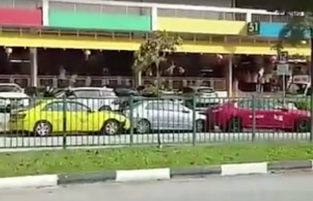 Elderly cabbie under investigation for going on vehicular rampage outside Old Airport Road Food Centre