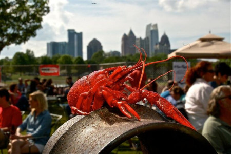 Atlanta's largest crawfish festival brings Mardi Gras style to food and music