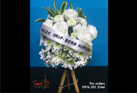 Yea or nay? Give your bae a mini funeral flowers for Valentine's day