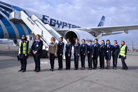 EgyptAir Launches Two Flights with Full Women Crews