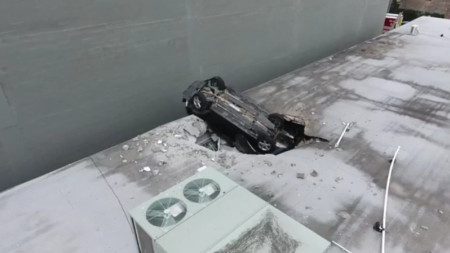 'A miracle': Teen driver survives 7-story plunge into hardware store