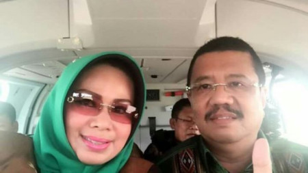 North Sumatra governor panned for using state owned helicopter to attend wedding after selfie goes viral