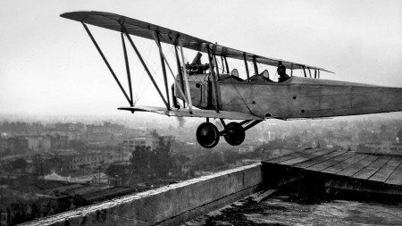From the Archives: Aviator 'jumps' off building