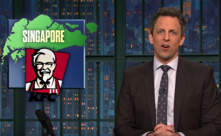 KFC Singapore's Chizza gets roasted on Late Night with Seth Meyers