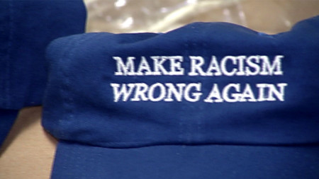 'Make Racism Wrong Again,' Blue Hats Sold by Va. Couple Say