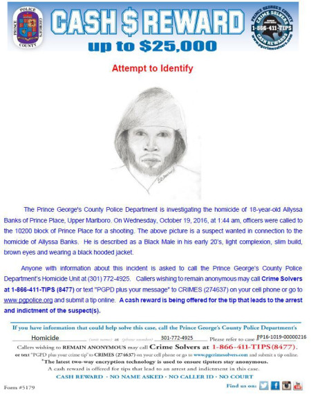 Police release composite sketch of suspect in Allyssa Banks slaying
