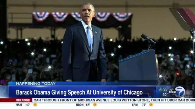 Former President Obama to speak at University of Chicago Monday
