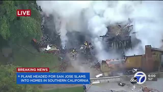 4 dead after small plane bound for San Jose crashes in SoCal