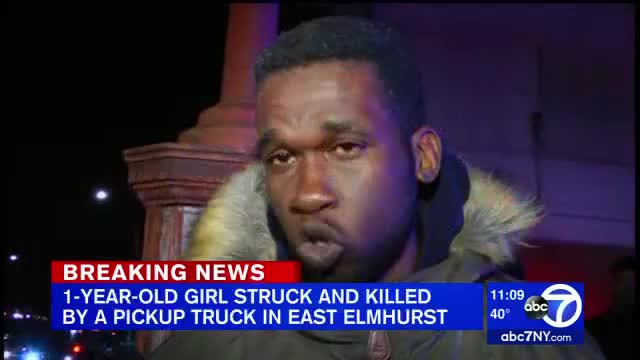 1-year-old hit by truck, killed in East Elmhurst; man charged
