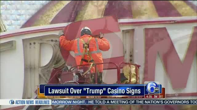 """Companies head to court over casino's """"Trump"""" signs"""